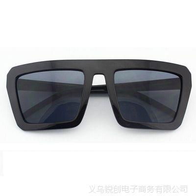 锐创 小辣椒欧美大牌潮男女款复古太阳镜 黑色方框眼镜CY1211019