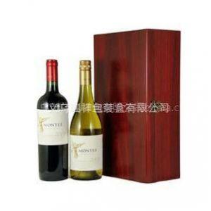 供应单双支高档红酒礼盒、木制工艺礼品盒、密度板酒盒包装