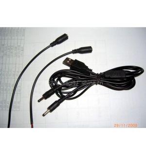 供应USB头一拖二电源线 适合保暖手套等产品