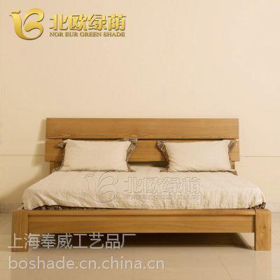 北欧实木家具卧室组合套装实木床电视柜衣柜