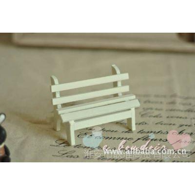 拍照道具zakka杂货木制迷你家具、公园椅子