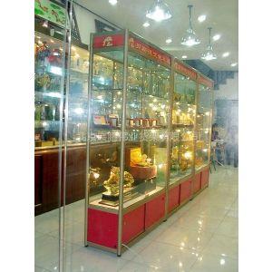 供应钛合金玻璃展示柜