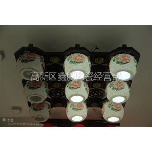 供应落地灯,陶瓷灯具,精品装饰品,青花粉彩落地灯,鑫腾陶瓷