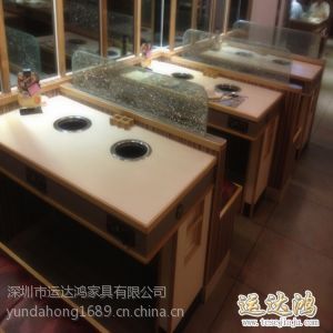 供应深圳观澜家具厂家 直销连体火锅店餐桌 耐用餐桌 餐厅餐桌椅