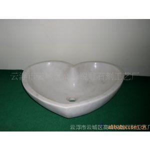 供应天然白底灰纹大理石洗手盆MARLBE SINK