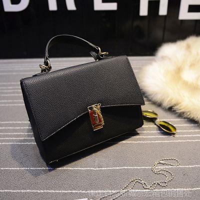 新款时尚女包单肩手提插锁包包女士小箱包市场外贸女包批发