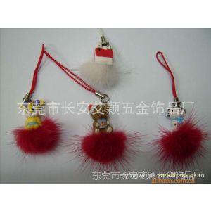 供应【厂价直销】水貂毛毛球挂件(直径2.5公分-4公分)