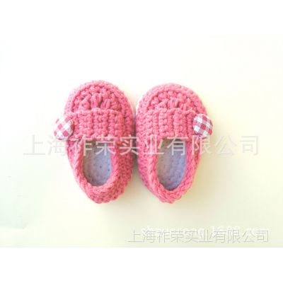 [厂家直销]婴儿毛线鞋 毛线编织婴儿鞋 针织毛线童鞋 手钩婴儿鞋
