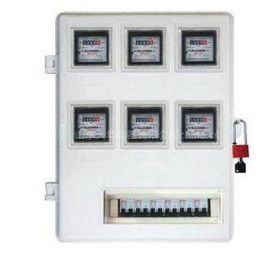 供应六表玻璃钢电表箱 煤改天燃气表箱 样式齐全