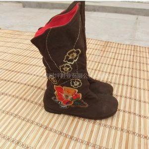 供应绣花靴子 枫树坪女靴 千层底布靴 特色鞋 民族风布鞋