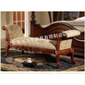 供应惠州 珠海 汕头床尾凳 换鞋凳 实木凳定制 欧式 美式 田园 新古典家具定制