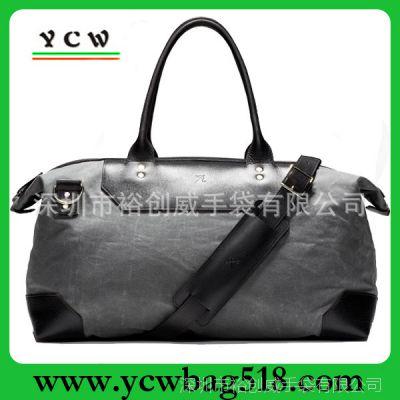 深圳龙岗旅行包厂家 供应高档男士商务包 订做麂皮绒旅行包