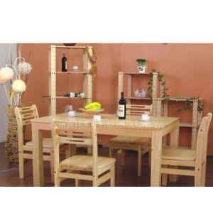 供应富柏世松木家具木面餐桌,餐椅,货架