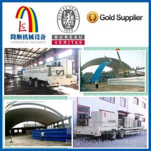 供应营口隆顺美式ABM/UBM大跨度无梁拱形建筑彩板成型设备LS-914-610
