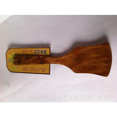 厨房用具精致耐用斧形木铲 不粘锅必搭锅铲烹饪铲 木长大铲
