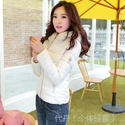 2014冬季新款韩版修身女装时尚羽绒服短装轻型保暖羽绒棉服外套