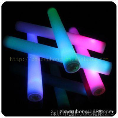 发光/闪光泡沫海绵棒 演唱会助威用品 led电子发光产品 荧光棒