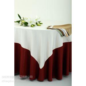 供应酒店餐厅台布定做 高档提花桌布 饭店圆桌台布厂家