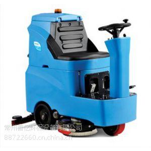 供应常州超市商场用驾驶式洗地机R-QQ,迷你型驾驶式自动洗地车 商业驾驶洗地吸干机价格