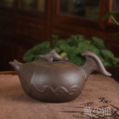 厂家直销宜兴紫砂茶壶鲨鱼 趣味紫砂壶260毫升 可定做LOGO 混批