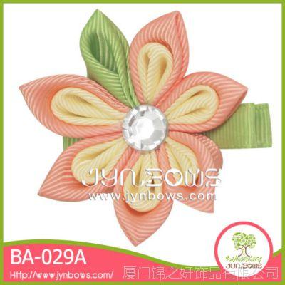 淑女气质芙蓉花花朵钻石发夹 BA-029 手工发饰加工