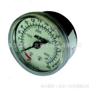 供应Zoriver 不锈钢压力表 轴向圆柱带过滤网接头10Bar 25Bar 30Bar