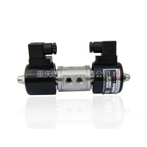 重庆耐仕NS供应304不锈钢螺纹双线圈换向二位三通电磁阀