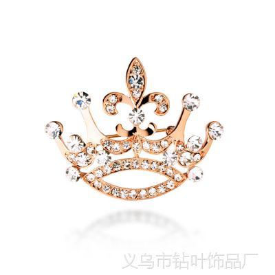 韩版饰品流行时尚衣饰品批发闪钻皇冠胸针别针-王的女人-5723