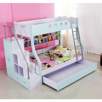 厂家供应木质上下铺儿童床高低子母床 上下儿童床 学生儿童木床批发