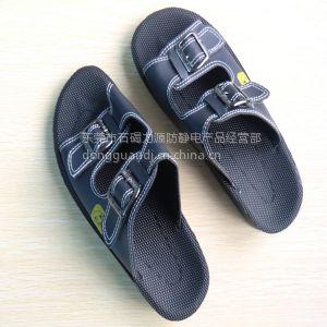 供应厂家直销优质防静电人造革PU拖鞋| 防静电鞋。