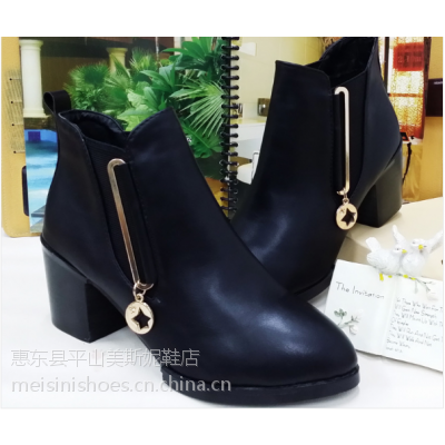 供应2014秋冬女鞋新款 靴子女靴短靴冬季高跟鞋粗跟马丁靴