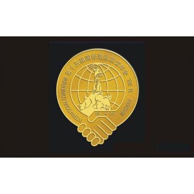 广州定制年会微章/企业年会胸章/公司会议胸徽批发定做。