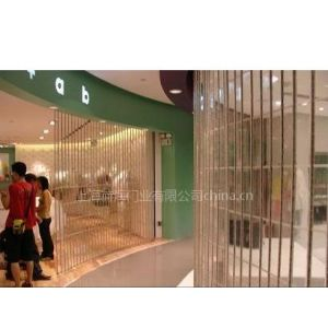 供应水晶折叠门 电动水晶门商场水晶门