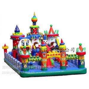 供应大型儿童充气城堡蹦床120平方迪士尼儿童乐园
