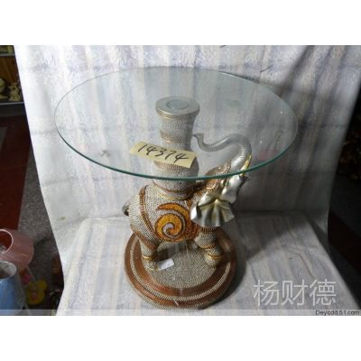树脂工艺品、大象、桌类、茶几、尾货库存qz14374批发