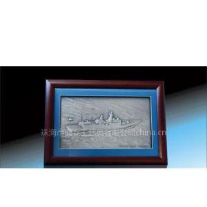 供应订制军舰锡画  部队 军队 海军 银行 空军 纪念品订制