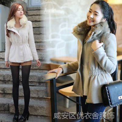 高品质 新款韩版时尚修身短款秋装外套女装短大衣女毛呢外套