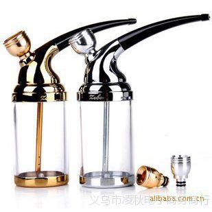 批发中邦正牌烟具ZB-502水烟壶|水烟斗|合金有机玻璃两用型水烟斗