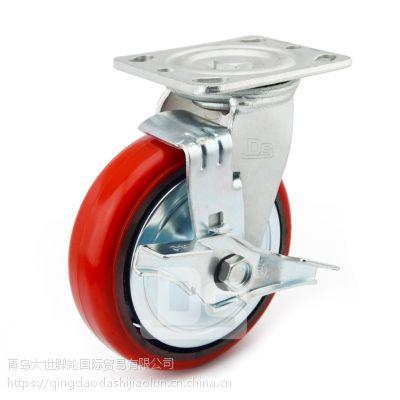 大世脚轮厂家 塑料芯工业轮PVC材质 中高载重 定转向 多尺寸稳移动