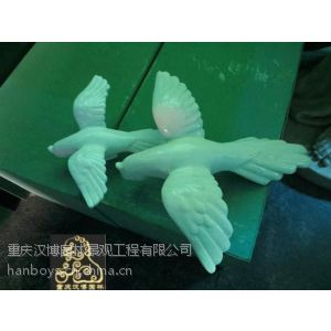 供应仿真鹦鹉艺术雕塑工艺品酒店会所大厅餐厅家居室内套组装树脂摆件