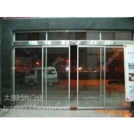 供应太原玻璃感应门  玻璃门考勤系统 指纹系统等