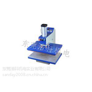 供应东莞浩科气动单工位热溶胶机 热转印烫画机 下发热烫胶机