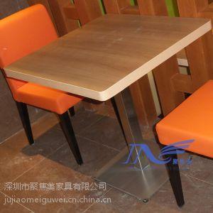 供应茶餐厅家具茶餐厅防火板餐桌深圳聚焦美家具