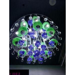 供应现代简约灯具 奢华水晶灯客厅书房灯 餐厅卧室灯LED节能吸顶灯