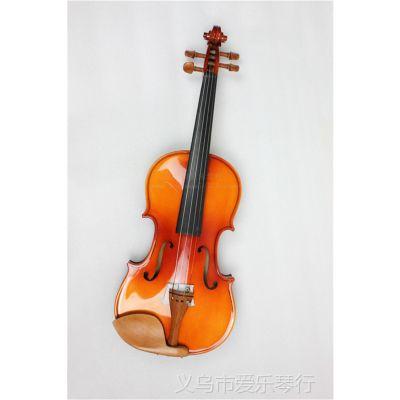 供应4/4木色小提琴 枣木配件 亮光 虎纹 小提琴 拉弦类乐器 批发