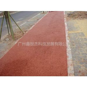 供应彩色透水路面粘接剂,广东广州透水路面混泥土厂家。