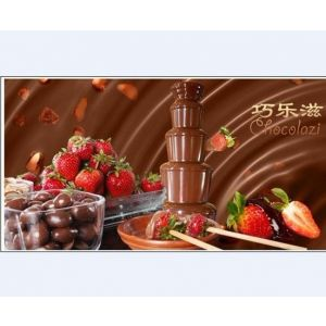 供应巧克力喷泉机酒店婚庆商用 五层80cm巧克力喷泉机 大型瀑布机 喷淋塔