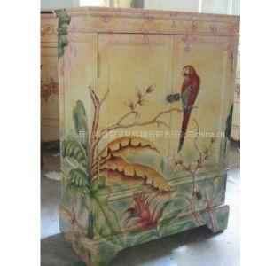 供应定制手绘中式花鸟家具