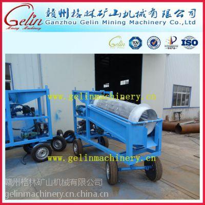 厂家专业生产移动式圆筒筛分机 柴油驱动滚筒筛分机 选矿设备