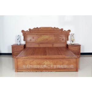供应床红木大床缅甸花梨木大床古典家具红木床图片卧室家具
